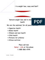 Do You Want to Weight Loss, Easy and Fast?