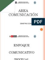 Enfoque Comunicativo Textual en La Ebr Ccesa