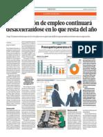 Generación de Empleo Continuará Desacelerándose_El Comercio 2-05-2014