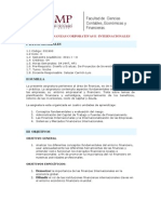 Finanzas Corporativas e Internacionales - Syllabus - 2010-1