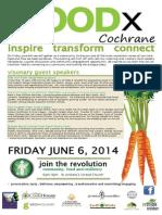 Food x Poster Cochrane, Alberta