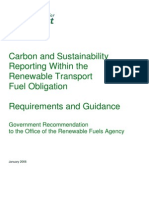 UK Gov't Recommendations on Carbon and Sustainability Reporting