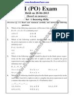 2.Sbi Po Exam 28-4-13.Text.marked.text.Marked