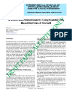 IJIRSM Bhargavi KA Robust Distributed Security Using Stateful CSG Based Distributed Firewall