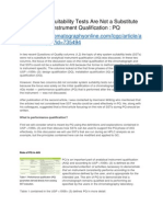 Why System Suitability Tests Are Not a Substitute for Analytical Instrument Qualification - PQ - Part 3