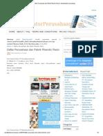 Daftar Perusahaan Dan Pabrik Phenolic Resin _ Alamat Kantor Perusahaan