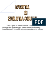 Aparitia Si Evolutia Omului
