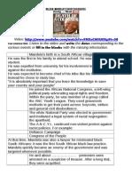 NELSON MANDELA Worksheet Video BIs