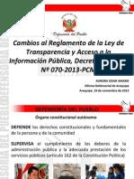 Exposicion Ley de Acceso Información Publica
