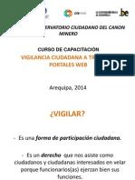 Vigilancia Ciudadana a Través de Portales Web