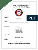 Análisis Cefalométrico de Downs Terminado