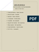 Lista de Musicas - Folclore 10.08