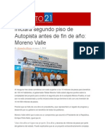 01-05-2014 ACENTO 21 - Iniciará segundo piso de Autopista antes de fin de año, Moreno Valle.