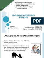 Grupo 5. Analisis de Actividades Multiples. Gilbert Diaz, Nairuby Jugador