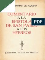 Comentario a La Epístola a Los Hebreos