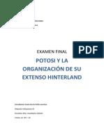 Potosi y Su Extenso Hinterland Paola Peña Examen Final Urb 3
