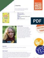 Teenage Prize Reading Guide - Jenny Valentine