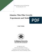 Alumina Thin Film Growth-Experiments and Modeling