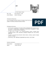 CV of Rene Ylanan (Telco) Oct. 2009