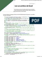 Como Trabajar Con Un Archivo de Excel Desde VB.net