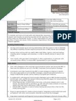 MRC Senior Press Officer Job Description