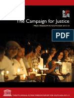 "THE_CAMPAIGN_FOR_JUSTICE-""the Campaign for Justice"" Press Freedom in South Asia 2013-14"