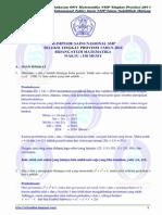 Pembahasan Soal OSN Matematika SMP Tingkat Provinsi 2014 [Bagian a; Isian Singkat]