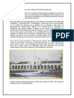 Historia de Las Salas de Teatro de Guatemala