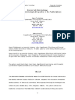Democratic Criminology Criminological Expertise in Public Sphere