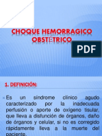 CHOQUE HEMORRAGICO OBSTÉTRICO