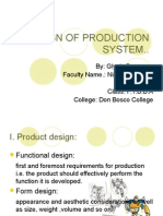 Design of Production System