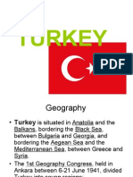 • Turkey is Situated in Anatolia and The