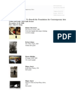 FCA Photographic Works Checklist 11 24 08