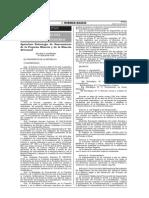 D.S. Nº 029-2014-PCM, Saneam. de Pequeña y Minería Artesanal