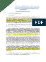 D.S.N° 009-2014-EF, Ley 29874, Ley 30114, CAFAE