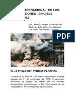 EL DÍA INTERNACIONAL  DE LOS TRABAJADORES   EN CHILE  (IX Y FINAL)
