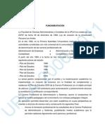 Plan de Estudio Administracion y Sistemas 2007