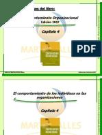 1 Comportamiento Organizacional - Resumen Capitulo 4