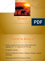 Ô Kenya is Located in East Africa With a Latitude