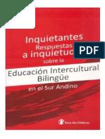 Sobre Las Inquietantes Respuestas a Inquietudes - Educación Intercultural Bilingüe