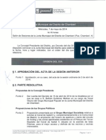 Orden del día del pleno de la JMD de Chamberí (07-05-2014) con pregunta sobre el Beti-Jai