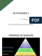 Actividades II Maslow