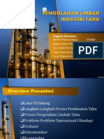 Pengolahan Limbah Pabrik Tahu