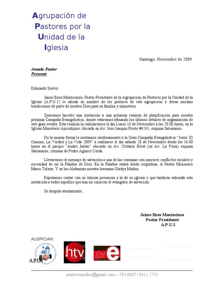 Carta de Invitación- RETIRO 2012