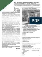 Ibfc 2008 Abdi Especialista Administrativo e Financeiro Prova