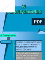 2.3 Transport System in Plants