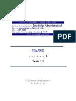 Medidas Tendencia Central y Dispersión