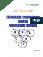 1 Guide Pédagogique l Enseignement de l'Éducation Physique Et Sportive Par l Approche Des Compétences