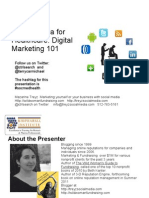 HealthcareSocialMedia Digital Marketing101 BioPharmaInstitute