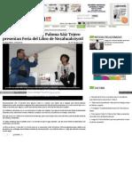 Paco Ignacio Taibo II y Paloma Sáiz Tejero Presentan Feria Del Libro de Nezahualcóyotl